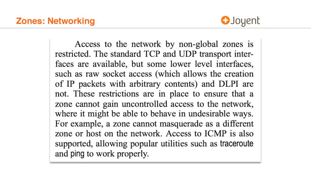 Zones: Networking