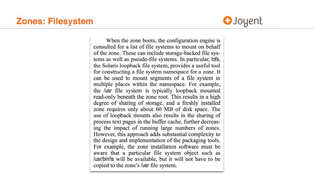 Zones: Filesystem