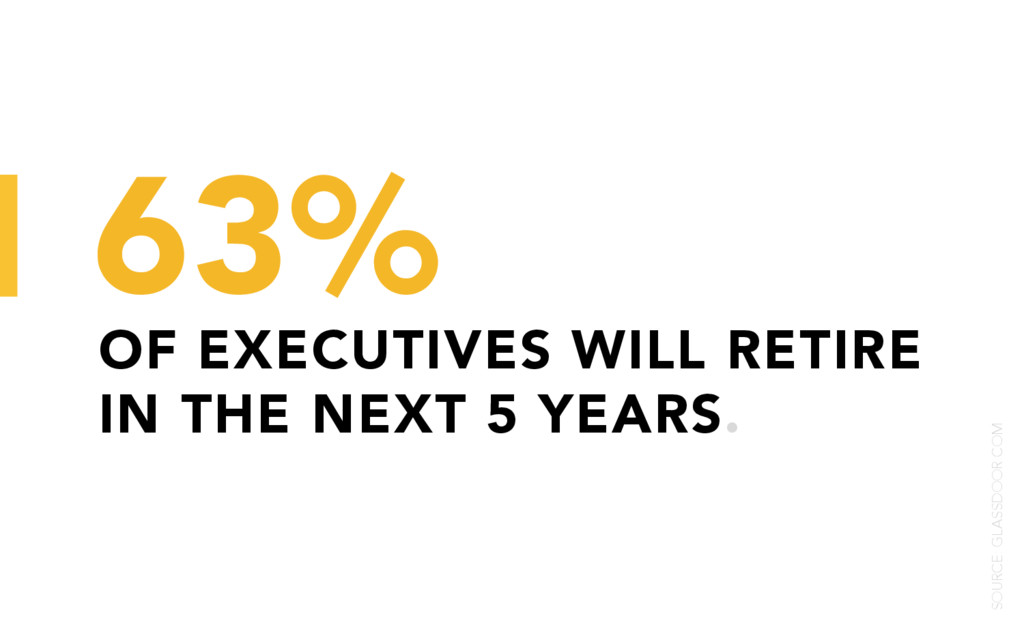 OF EXECUTIVES WILL RETIRE IN THE NEXT 5 YEARS. ...
