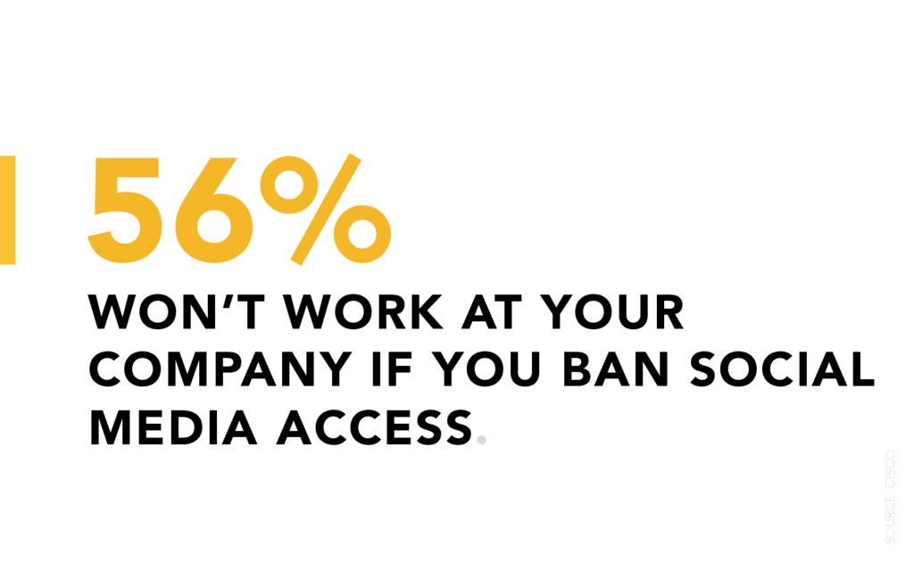 WON'T WORK AT YOUR COMPANY IF YOU BAN SOCIAL ME...