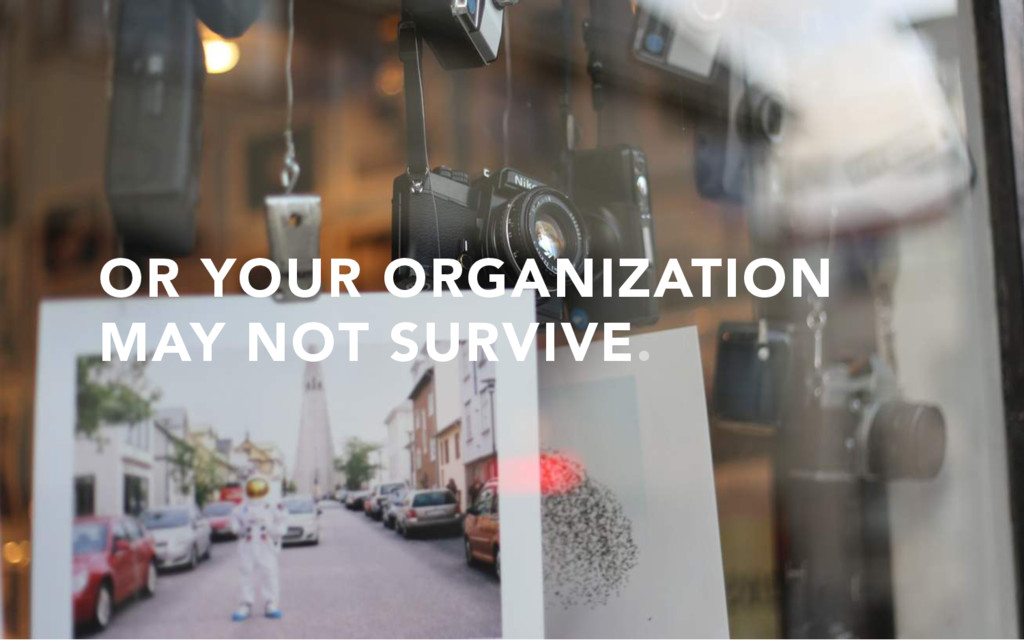 OR YOUR ORGANIZATION MAY NOT SURVIVE.