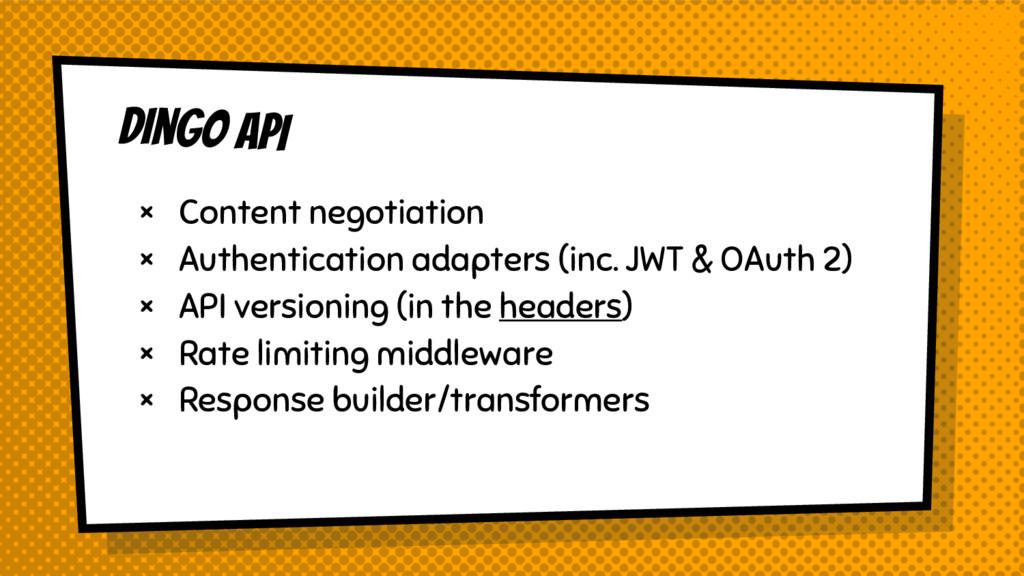 Dingo API × Content negotiation × Authenticatio...