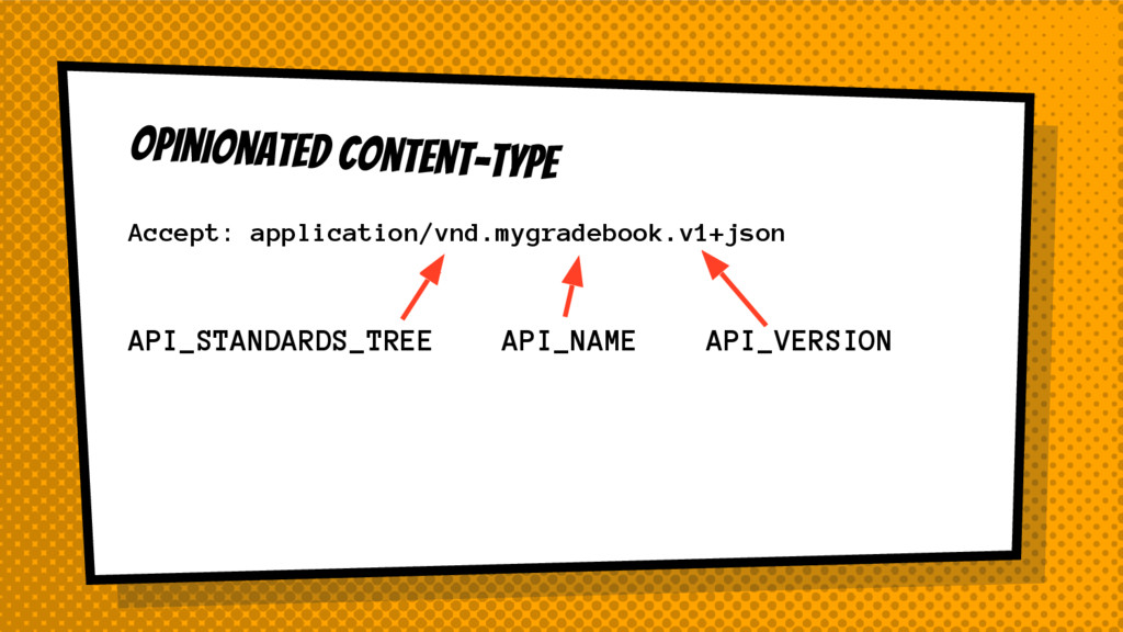 Opinionated Content-type API_STANDARDS_TREE API...