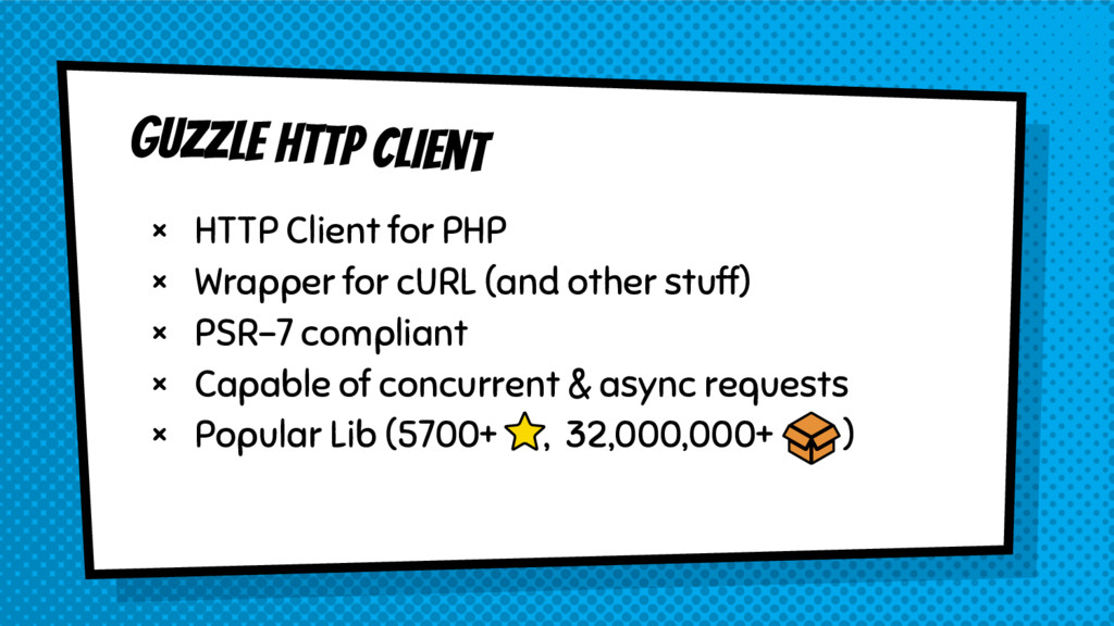 Guzzle HTTP Client × HTTP Client for PHP × Wrap...