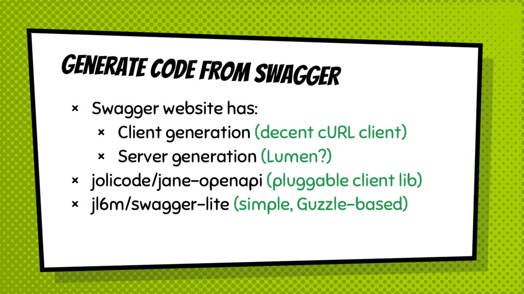 Generate Code FROM SWAGGER × Swagger website ha...