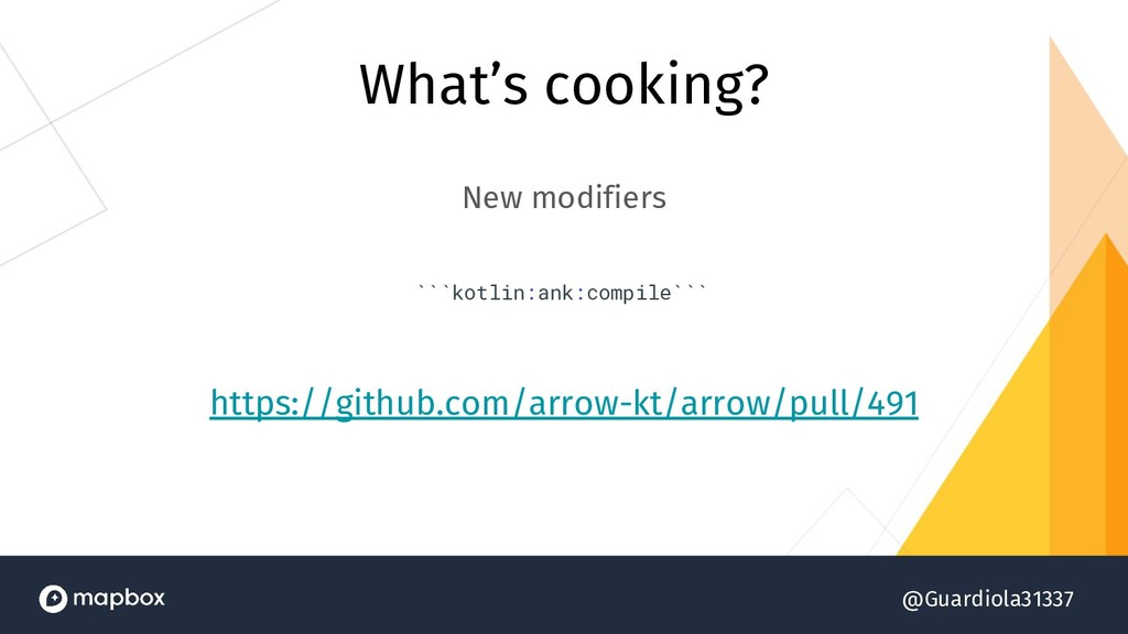 @Guardiola31337 What's cooking? New modifiers `...