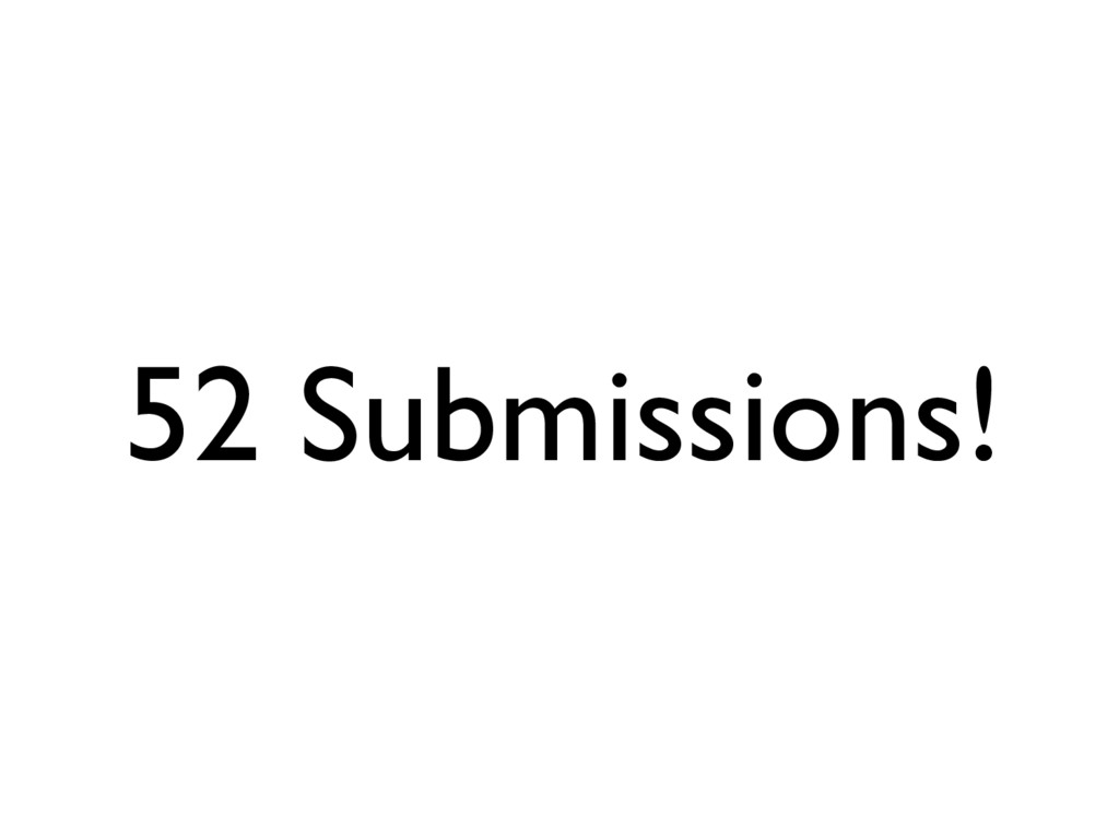 52 Submissions!