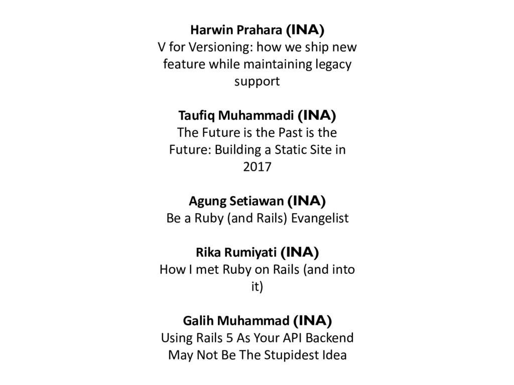 Harwin Prahara (INA) V for Versioning: how we s...