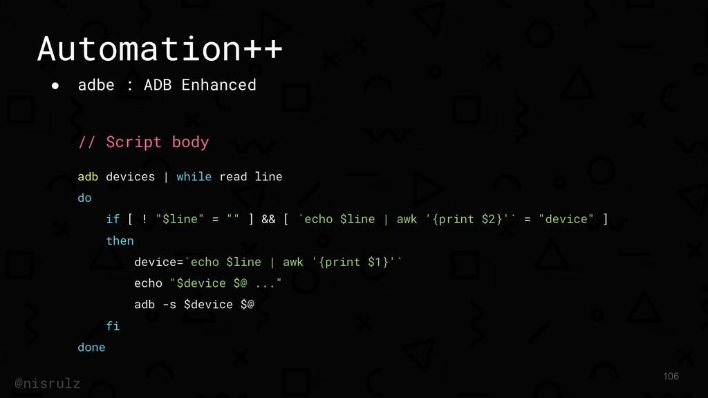 Automation++ ● adbe : ADB Enhanced // Script bo...