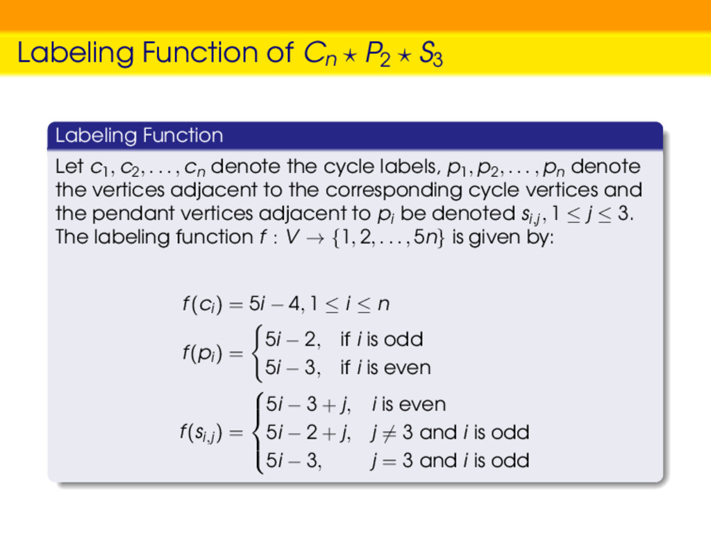 Labeling Function of Cn P2 S3 Labeling Function...