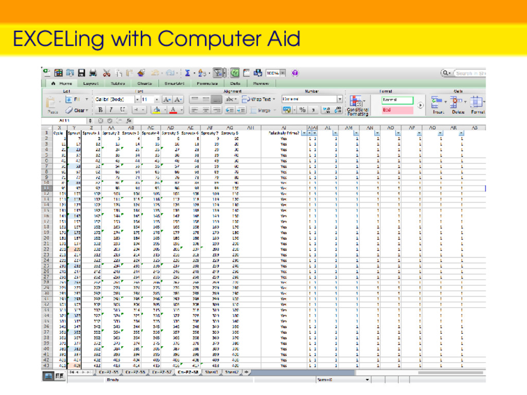 EXCELing with Computer Aid