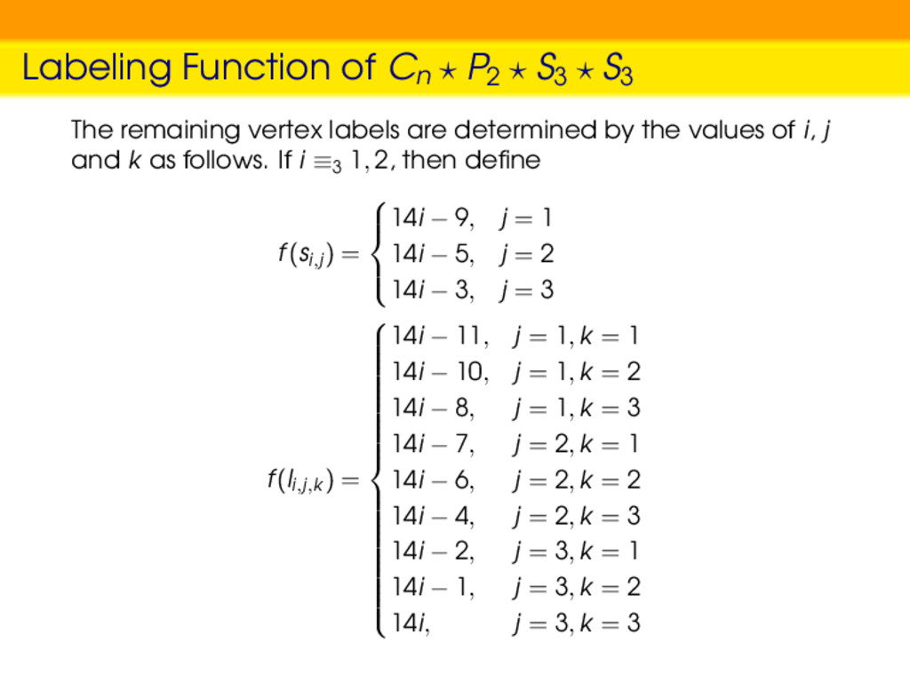 Labeling Function of Cn P2 S3 S3 The remaining ...