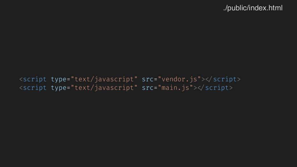 """<script type=""""text/javascript"""" src=""""vendor.js"""">..."""