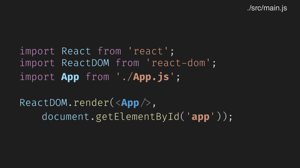 import React from 'react'; import ReactDOM from...