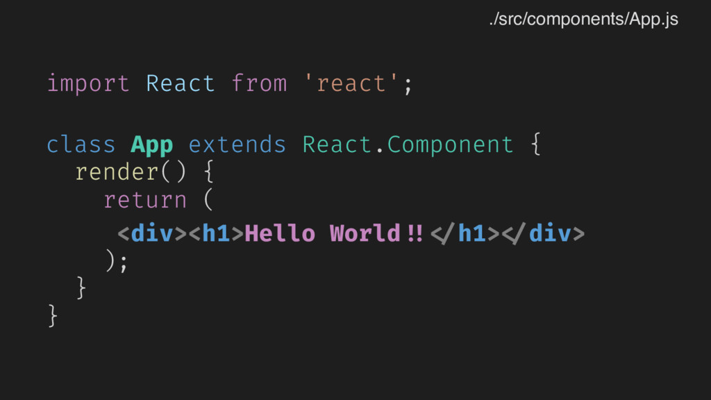 import React from 'react'; class App extends Re...