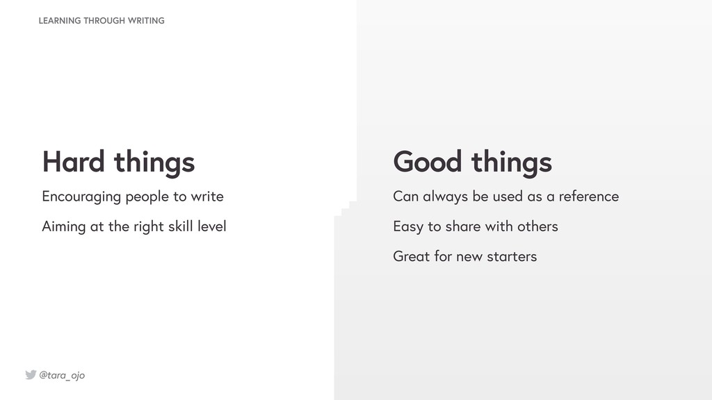 @tara_ojo LEARNING THROUGH WRITING Good things ...