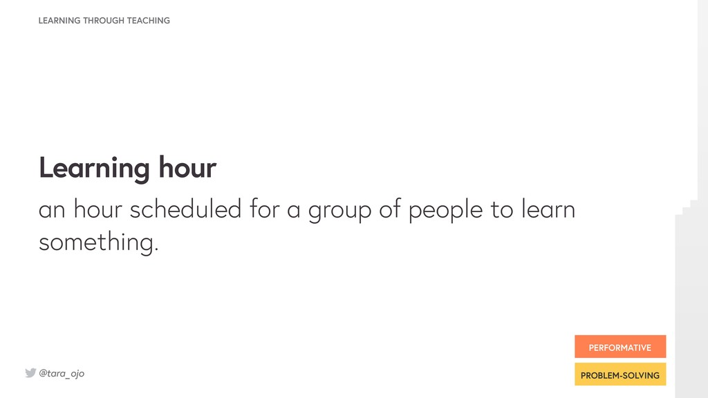 @tara_ojo Learning hour an hour scheduled for a...