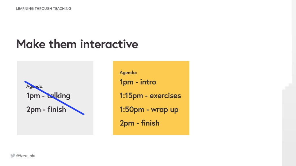 @tara_ojo Agenda: 1pm - talking 2pm - finish Ag...