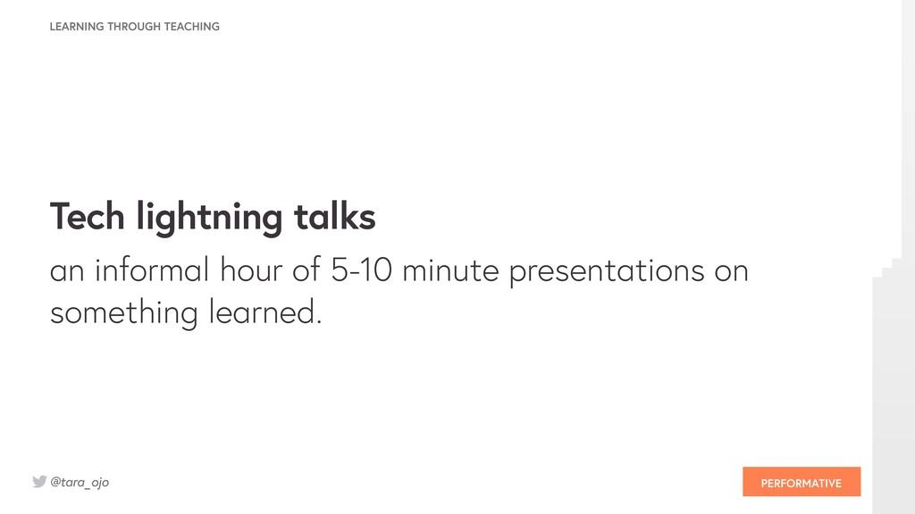 @tara_ojo Tech lightning talks an informal hour...