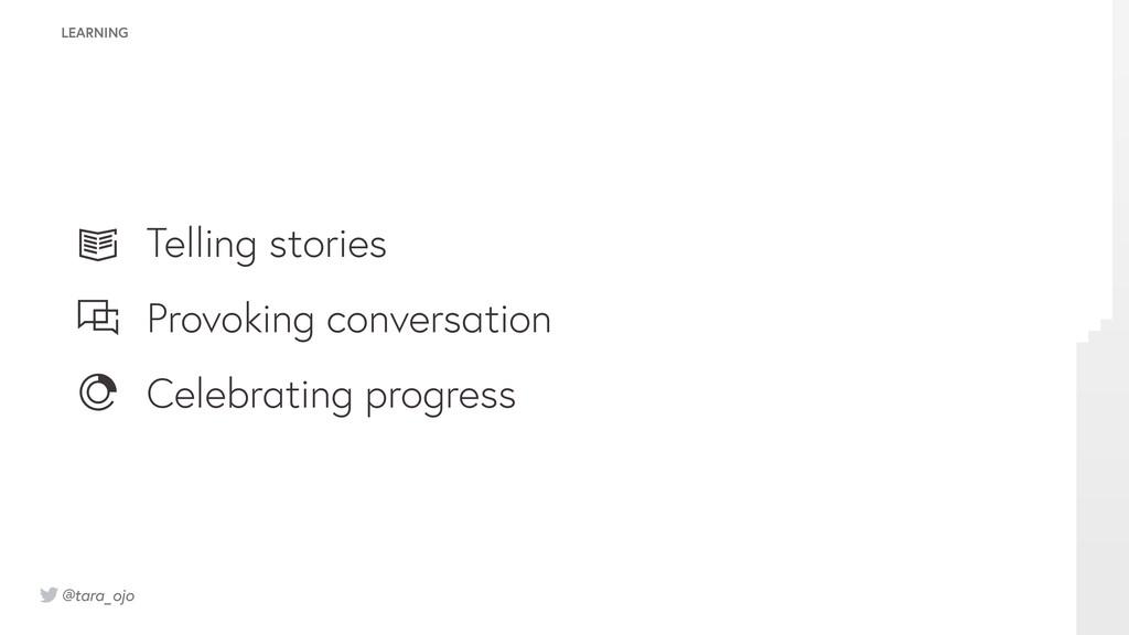 @tara_ojo Telling stories Provoking conversatio...