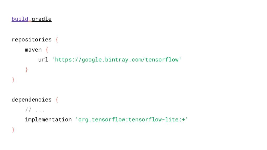 repositories { maven { url 'https://google.bint...