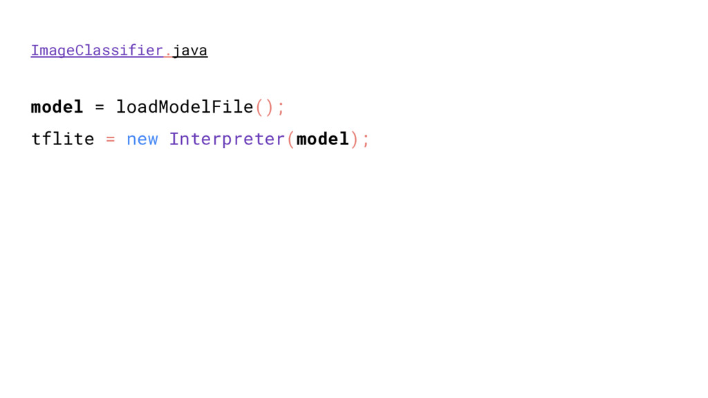 ImageClassifier.java model = loadModelFile(); t...