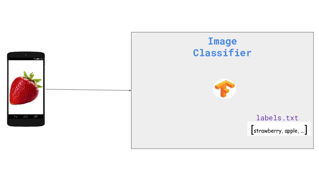 Image Classifier [strawberry, apple, ... ] labe...