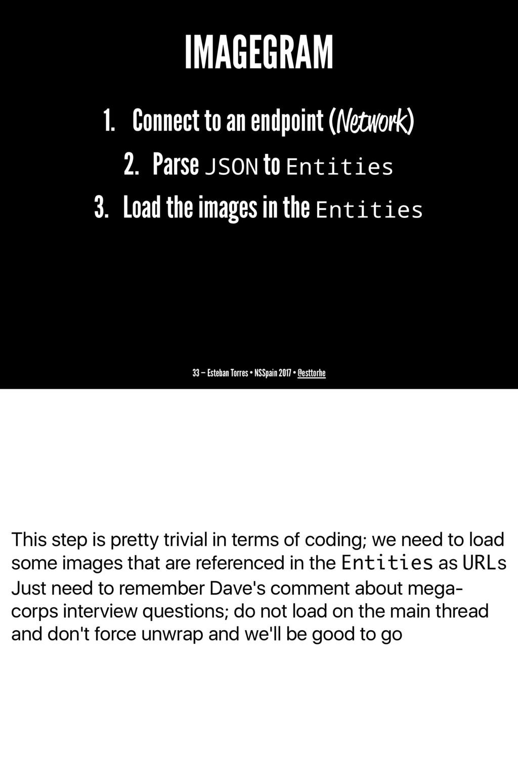 This step is pretty trivial in terms of coding;...