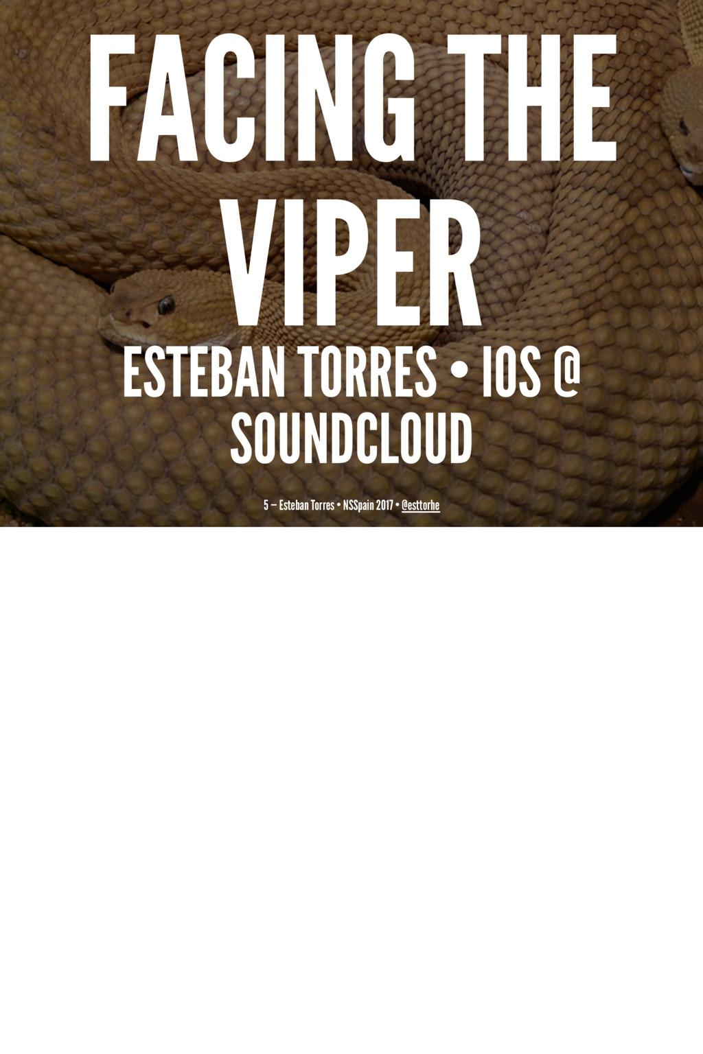 FACING THE VIPER ESTEBAN TORRES • IOS @ SOUNDCL...