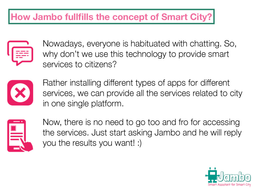 How Jambo fullfills the concept of Smart City? N...
