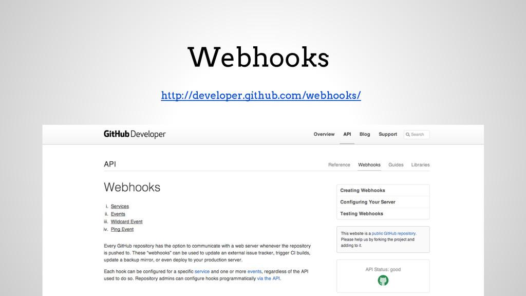 Webhooks http://developer.github.com/webhooks/