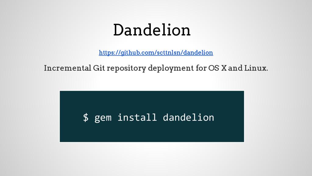 Dandelion https://github.com/scttnlsn/dandelion...