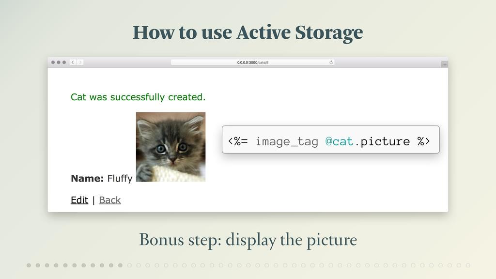How to use Active Storage Bonus step: display t...