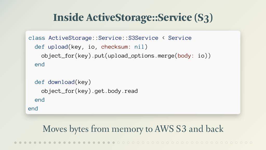 Inside ActiveStorage::Service (S3) Moves bytes ...