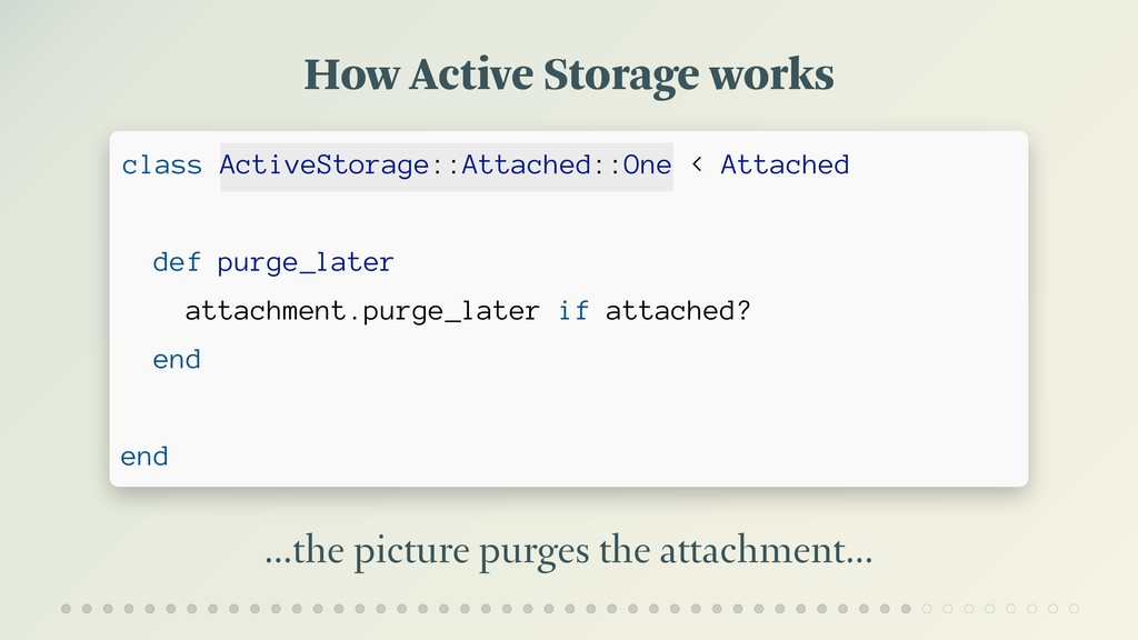 How Active Storage works …the picture purges th...