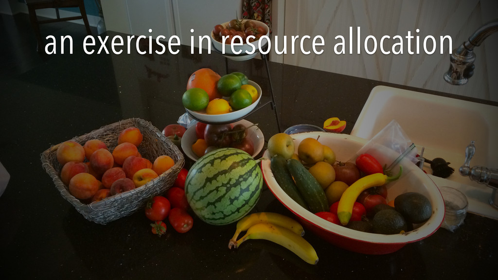 an exercise in resource allocation