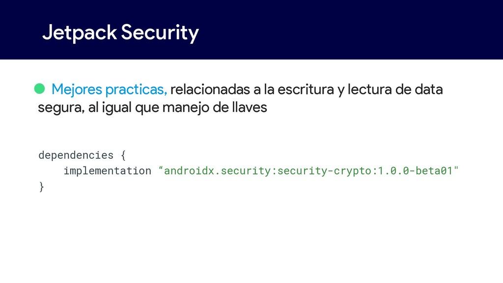 Jetpack Security • Mejores practicas, relaciona...