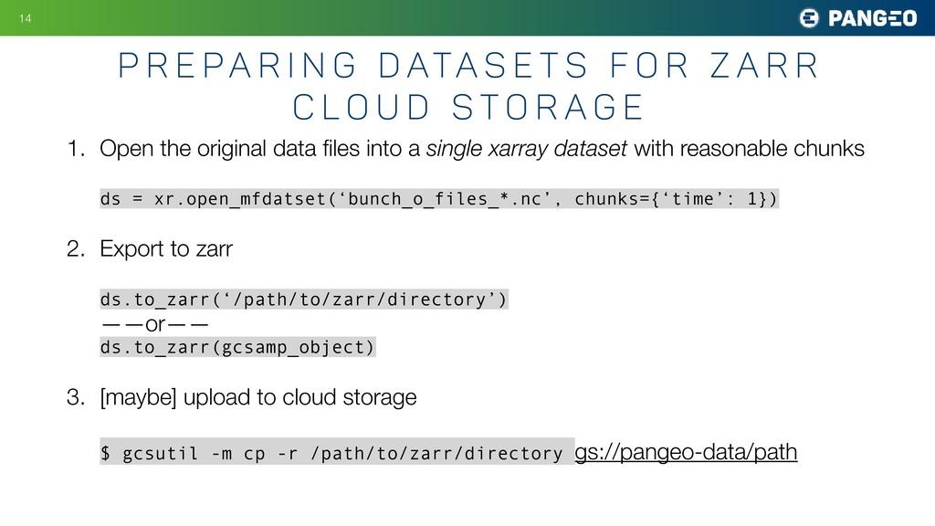 1. Open the original data files into a single xa...