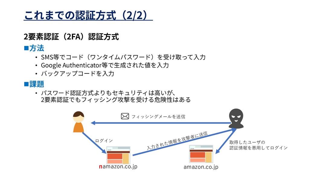 2/2 2 2FA n • SMS • Google Authenticator • n • ...