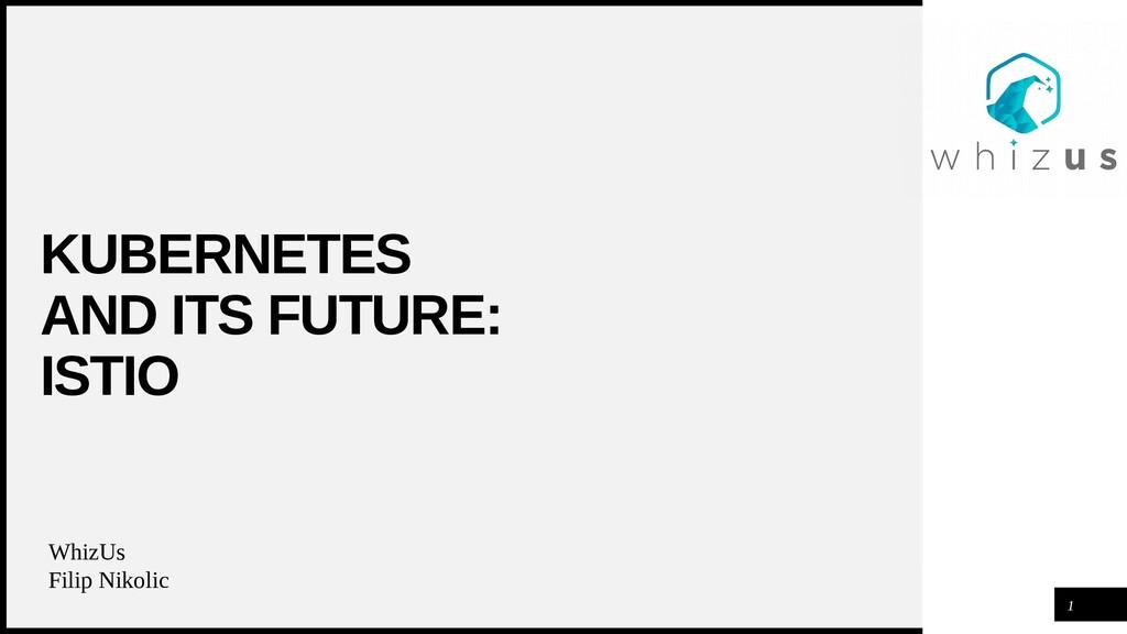 WOODGROVE BANK KUBERNETES AND ITS FUTURE: ISTIO...