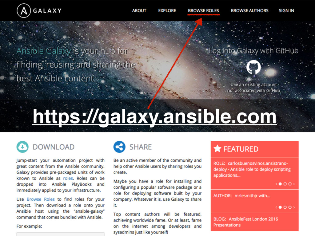 https://galaxy.ansible.com