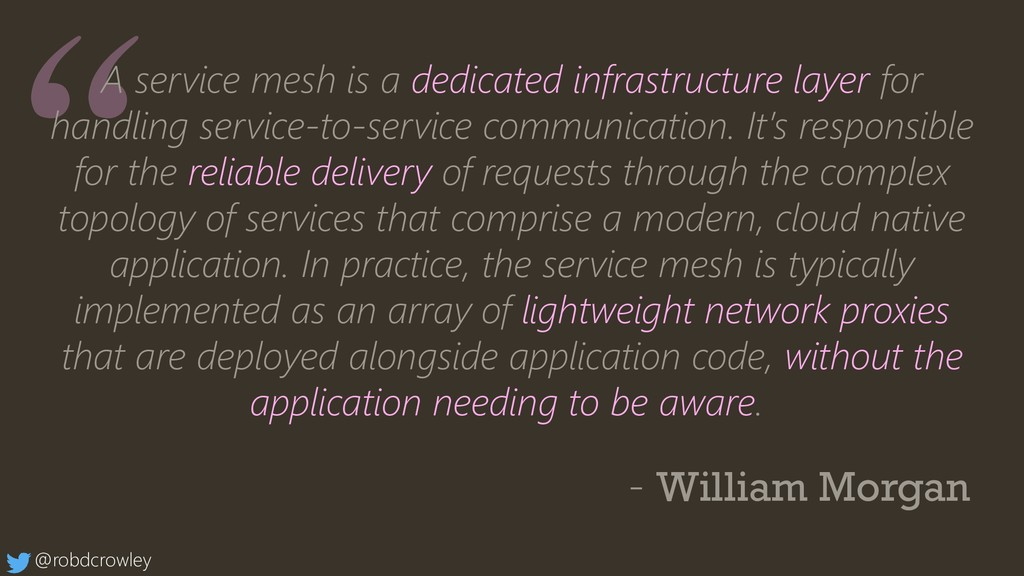A service mesh is a dedicated infrastructure la...