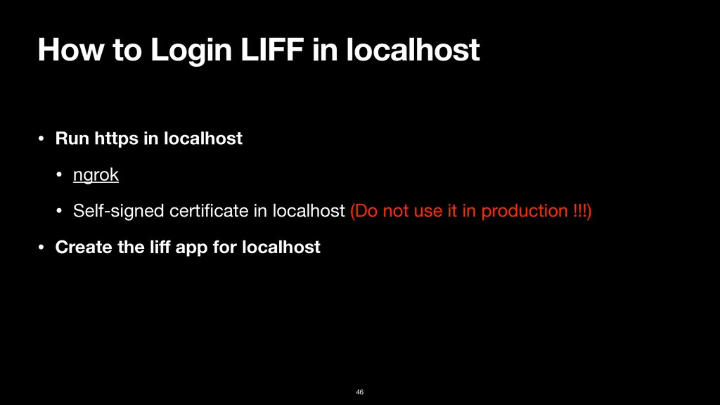 How to Login LIFF in localhost • Run https in l...