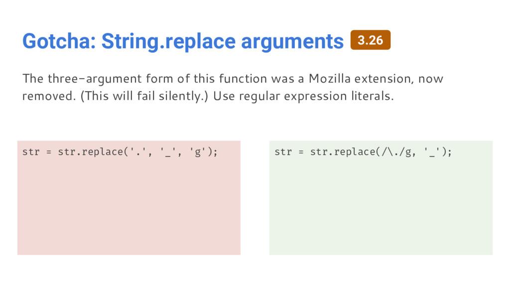 Gotcha: String.replace arguments str = str.repl...
