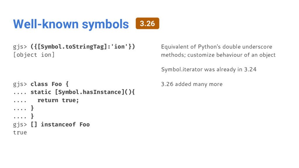 Well-known symbols gjs> ({[Symbol.toStringTag]:...