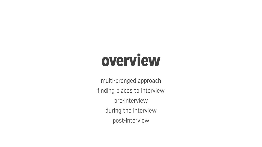 overview multi-pronged approach finding places ...