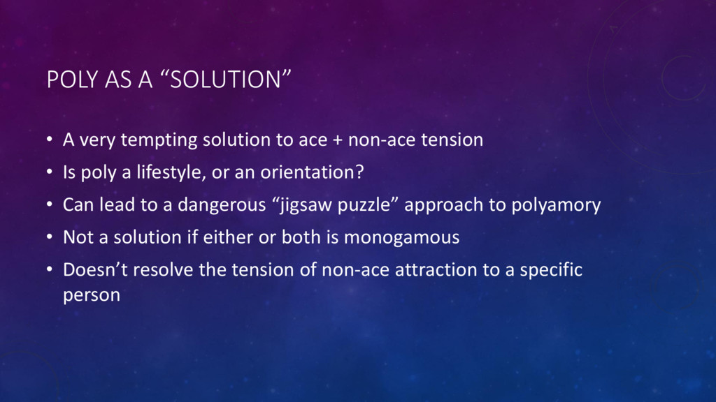 "POLY AS A ""SOLUTION"" • A very tempting solution..."