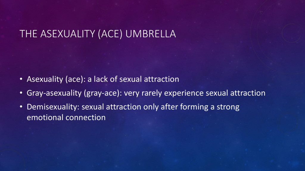 THE ASEXUALITY (ACE) UMBRELLA • Asexuality (ace...