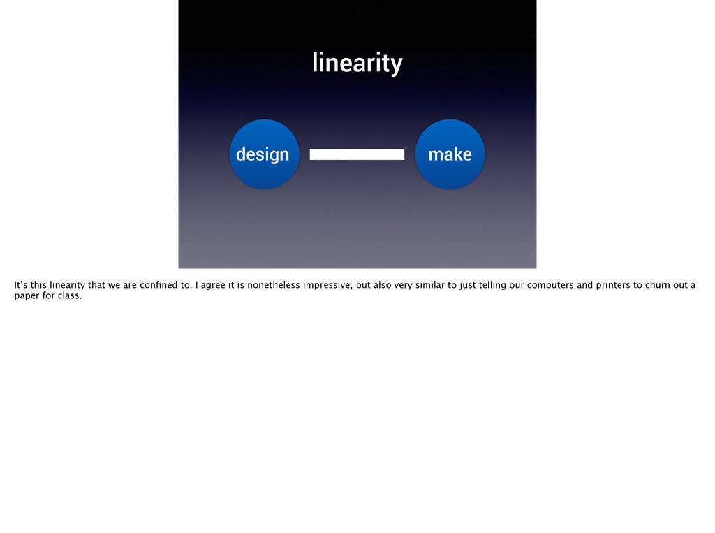 linearity design make It's this linearity that ...