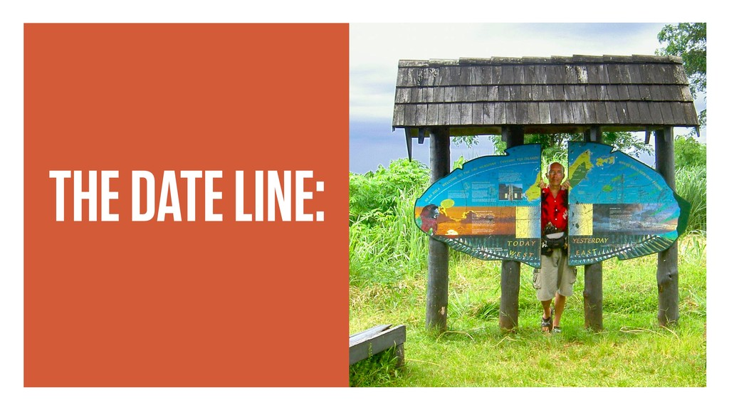 THE DATE LINE: